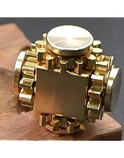 Wewinn Pure Brass Fidget Cube Gears Linkage Fidget Toy Metal DIY EDC Focus Meditation Break Bad Habits ADHD