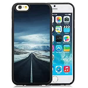 Unique Designed Cover Case For iPhone 6 4.7 Inch TPU With Ml Road To Snow Mountain Nature Winter Phone Case