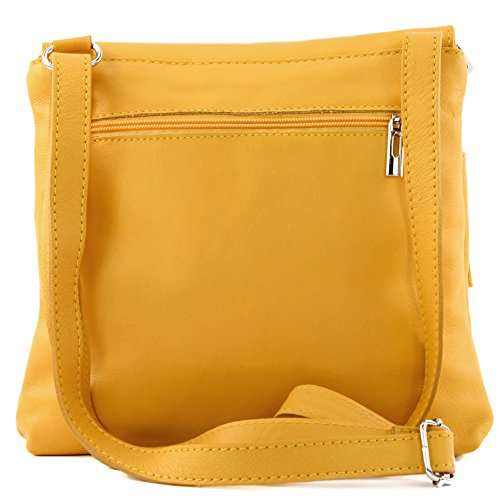 Yellow shoulder Italian T63 bag satchel messenger bag leather real bag women's Sun UUrq5Pw