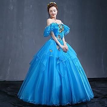 JKJHAH Vestidos De Noche Baile De Graduación Vestidos De Fiesta Mujer, Azul, S