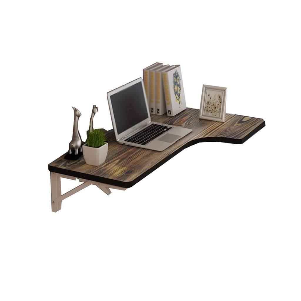 ZCJB Wall-Mounted Drop-Leaf Table Hardware Anti-Rust, Wear Resistant Folding Desk Small Study (Size : 80x60x40cm)