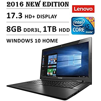 2016 Lenovo G70 Premium High Performance 17.3-inch HD+ Laptop, Intel Core i5 2.2 GHz Processor, 8GB DDR3L RAM, 1TB HDD, DVDRW, Bluetooth, Webcam, WiFi, HDMI, Windows 10
