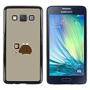 A-type Arte & diseño plástico duro Fundas Cover Cubre Hard Case Cover para Samsung Galaxy A3 (Divertido del payaso del arco iris)