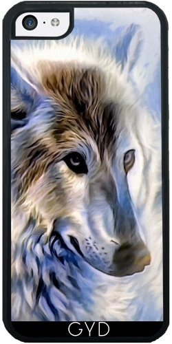 Coque Silicone pour Iphone 5C - Icewolf Loup Imaginaire by WonderfulDreamPicture