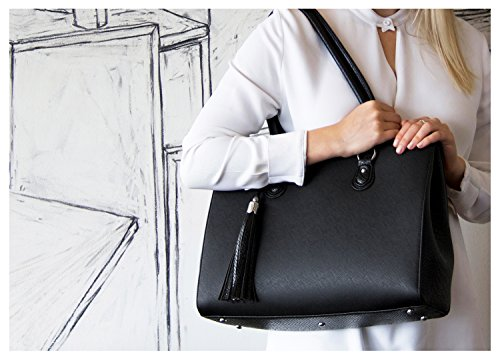 BfB Replacement Handles For Your Jennifer Business Tote – Refresh Your Womens Laptop Work Bag And Make It Look Brand New With New Purse Straps - BLACK by My Best Friend is a Bag (Image #2)