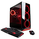 CYBERPOWERPC Gamer Xtreme GXIVR8020A4 Desktop Gaming PC (Intel i5-7400 quad core processor 7th generation, AMD RX 580 4GB graphics processor, 8GB DDR4 RAM, 1TB 7200RPM HDD, WiFi, Win 10 Home 64-bit), Black - VR Ready