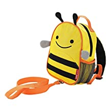 Skip Hop Zoo Little Kid and Toddler Safety Harness Backpack, Brooklyn Bee