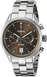 Fossil Men's CH2992 Del Rey Chronograph Stainless Steel Watch - Smoke