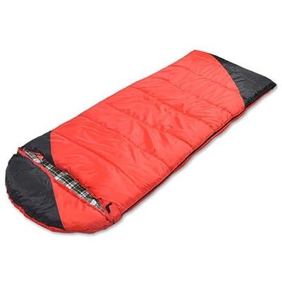 Sac de couchage de l'enveloppe avec le bouchon pour la randonnée de camping en plein air pour adultes (190 + 30) * 80cm