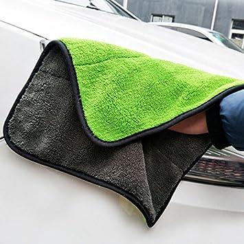 amaoma 45 * 38 cm Auto lavado Toalla Microfibra grosor muy absorbente Paño de limpieza y