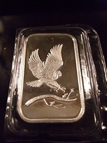 Minted Eagle - Trademark SilverTowne Eagle -1ozSilverBar, NEW (Sealed in Plastic)