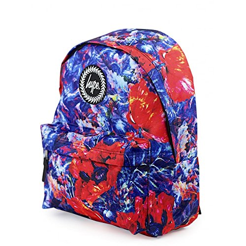 HYPE Backpack Poppy Paint Red/Blue School Bag - HYPE Backpack Rucksack