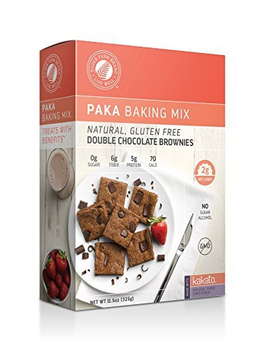 Gluten Free Double Chocolate Brownie Baking Mix: No Sugar Added  NonGMO Low Net Carb amp Calorie Desserts  w/ Chocolate Chips  Healthy Snacks Treats 1 Box