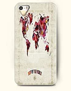 Phone Case For iPhone 5 5S Map Of The World - Hard Back Plastic Case / Oil Painting / SevenArc Authentic by supermalls
