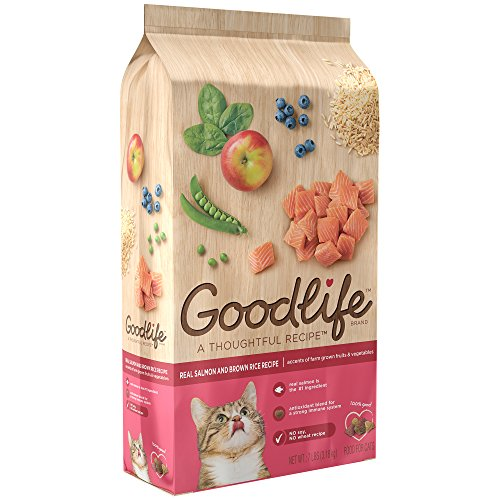 Goodlife Adult Real Salmon And Brown Rice Recipe Dry Cat Food 7 Pounds (Discontinued By Manufacturer)