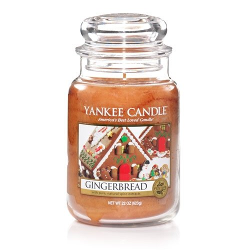 Gingerbread - 22 Oz Large Jar Yankee Candle made in New England