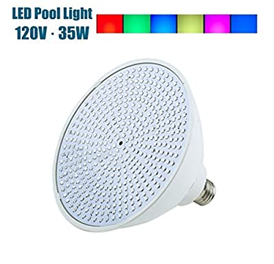 ANBELITE Color-Changing LED Pool Lamp 35 Watt Replacement Incandescent Bulbs in Pool Lights