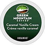 Green Mountain Coffee Caramel Vanilla Cream Single Serve K-Cup pods for Keurig brewers, 18 Count