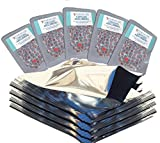 Gallon Mylar Bags with 500cc Oxygen Absorber for Long Term Emergency Food Storage in 10-Packs (Made in USA) (50)
