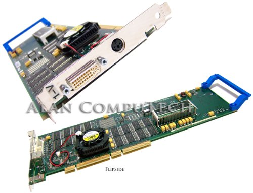 IBM - IBM Power GXT4000P DVI PCI Graphics Adapter 09P2429 3-Pin 09P1738 with Fan -