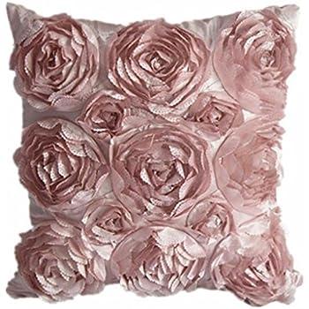 Amazon.com: Juanshi Set of 2 Piece Decorative Rose Throw