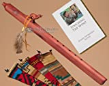 Native American Cedar Flute Pack -Wolf & Bag