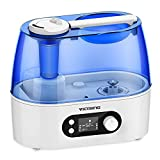VicTsing Cool Mist Humidifier, 3L Ultrasonic Cool Mist Humidifier Super Quiet Humidifier for Home, Bedroom (Dual 360 Degree Constant Humidity Mode, Large LED Night Light Display, Auto Shut-off)