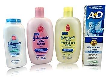 25dca6c1bfb Amazon.com   4-in-1 Baby Bundle Set -Johnson s Baby-powder