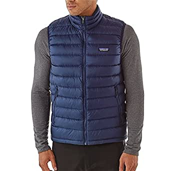 Patagonia Mens Down Sweater Vest, Navy Blue w/Navy Blue, XS