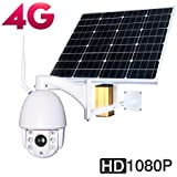 Solar 4G Ptz Camera Outdoor Wireless photovoltaic Solar Energy 30000mAh 60W CCTV WIFI IP Security Camera 1080P 2.0MP 32G TF Card CMOS 5X Optical Zoom Focus 2.7-13.5mm Night Vision 60m IP66 Waterproof
