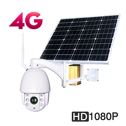 Solar 4G Ptz Camera Outdoor Wireless photovoltaic Solar Energy 30000mAh 60W CCTV WIFI IP Security Camera 1080P 2.0MP 32G TF Card CMOS 5X Optical Zoom Focus 2.7-13.5mm Night Vision 60m IP66 Waterproof Card Cmos Battery