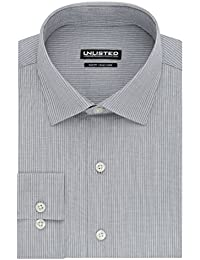 Kenneth Cole Unlisted Men's Slim Fit Stripe Spread Collar Dress Shirt