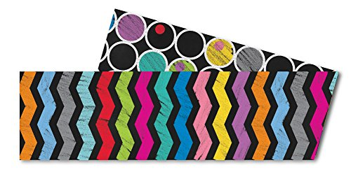 Carson Dellosa Colorful Chalkboard Straight Borders (108197)