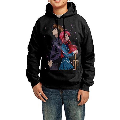 YHTY Youth Unisex Hoodies Kaze No Stigma Black Size XL