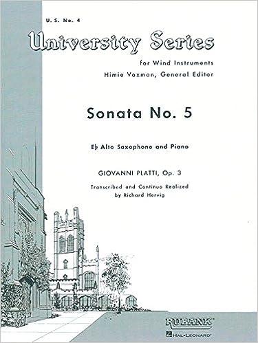 Livre audio téléchargement gratuitSonata No. 5: Alto Saxophone Solo with Piano - Grade 4 PDF 1495014738