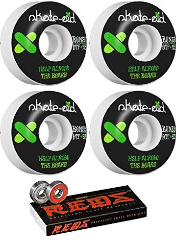 空虚素晴らしい良い多くの治世Bones Wheels 53 mm STF Skate Aid IIスケートボードWheels with Bones Bearings – 8 mm Bones Reds Precisionスケート定格スケートボードベアリング – 2アイテムのバンドル