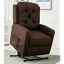 Greyson Living Parry Brown Track Arm Lift Chair By