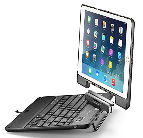 iPad Keyboard Case, iPad Air Keyboard Case, New Trent Airbender Star with Detachable Wireless Bluetooth Smart Keyboard for the Apple iPad Air, iPad Air 2, iPad 5 2017