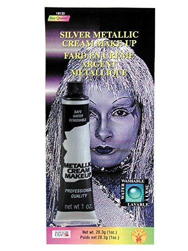 Rubie's Costume Co Slvr Metallc Cream Makeup Costume,0.7 oz (Makeup Halloween Costumes)