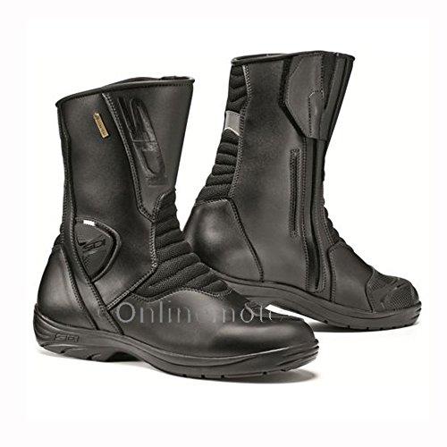 Sidi Gavia Gore-Tex Waterproof Leather Motorcycle Touring Boots - Black (Sidi Touring Boot)