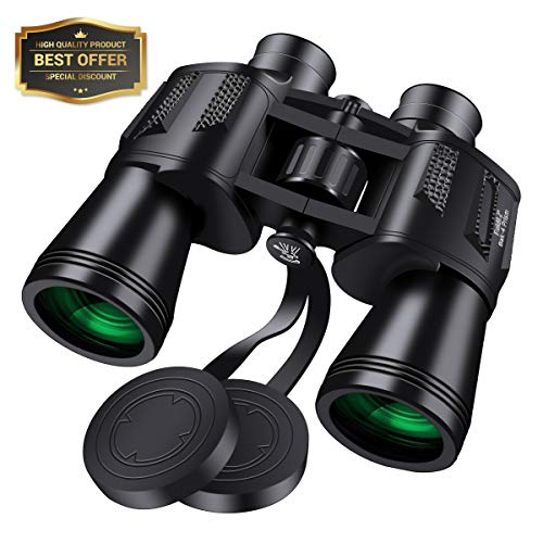 10x50 Binoculars for Adults,SGODDE Super High Powered Surveillance Binoculars- HD Vision,Wide Angle,Fully Coated Lens Prism Binoculars for Outdoor Travelling Sightseeing Wildlife Watching Hunting