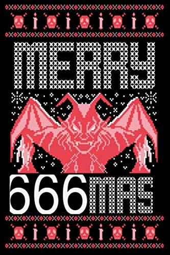 Merry 666Mass: Ugly Christmas Style Cover Funny for Satan Lovers   , Satanic Gifts Design for Men or Women ()
