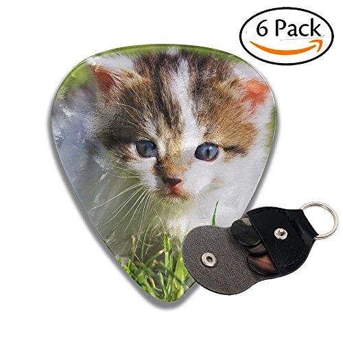 Janvonne Cute Baby Cat 351 Shape Classic Celluloid Guitar Picks For Guitar Bass - 6 Pack (Female Carnie Costume)