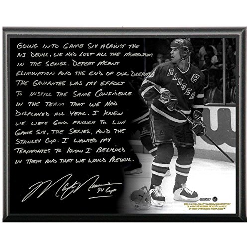 le 'Oilers Dynasty'Metallic 8x10 Story Plaque (Mark Messier Oilers)