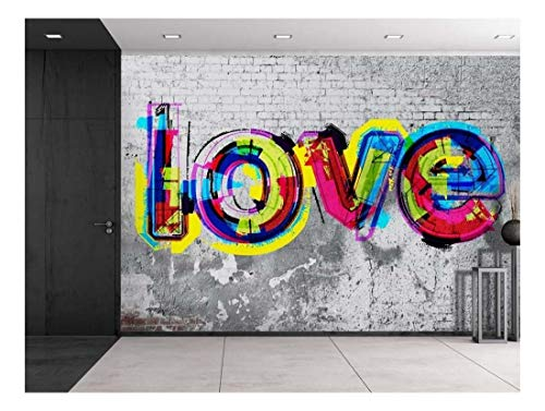 (wall26 - Colorful Graffiti - Large Wall Mural, Removable Peel and Stick Wallpaper, Home Decor - 100x144 inches)