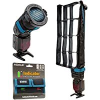 Rogue FlashBender 2 XL Pro Lighting System + Rogue 3-in-1 Flash Grid + Indicator Battery Pouch