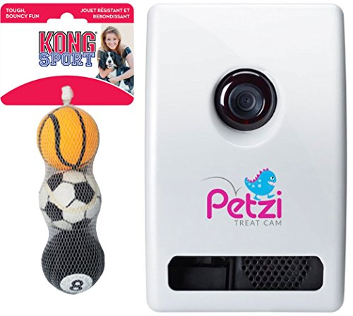 Petzi-Treat-Cam-Wi-Fi-Pet-Camera-w-Treat-Dispenser-3-Pack-Sport-Ball-Dog-Toy