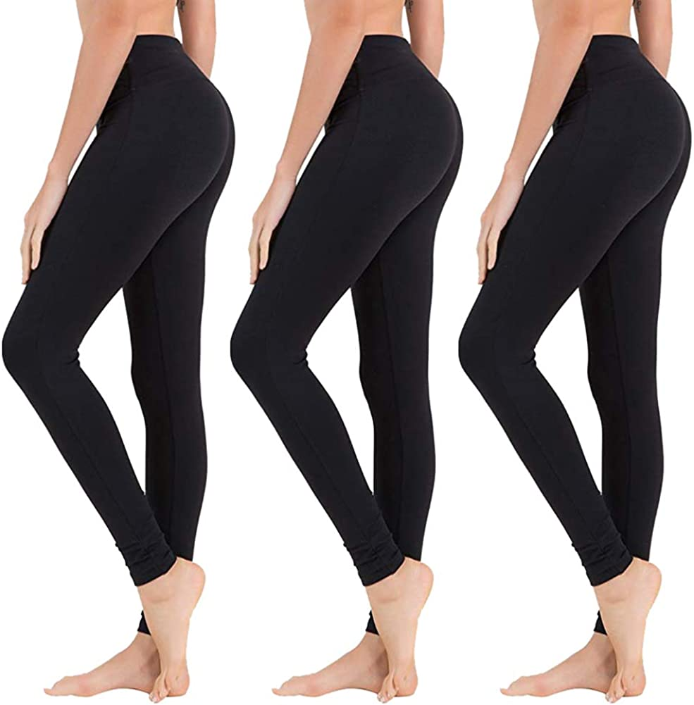 Amazon Com High Waisted Leggings For Women Soft Athletic Tummy Control Pants For Running Cycling Yoga Workout Reg Plus Size Clothing