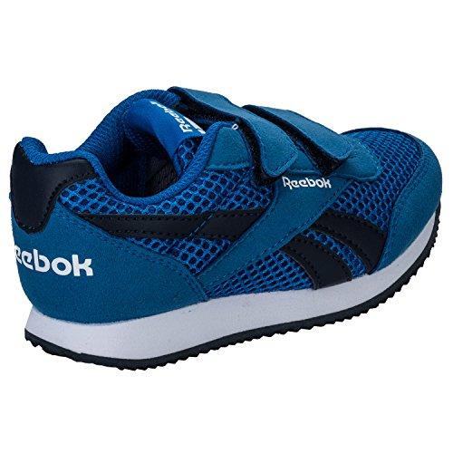 Reebok Royal Cljog 2rs 2v, Zapatillas de Running para Niños Azul / Blanco (Blue Sport / Collegiate Navy / Wht)