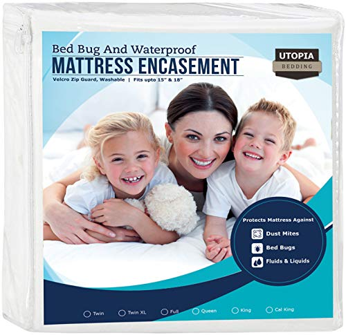Utopia Bedding Zippered Mattress Encasement - Waterproof Mattress Protector (King)